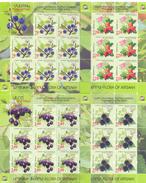 2017.Mountainous Karabakh, Flora, Berries Of Artsakh, 4 Sheetlets, Mint/** - Armenia