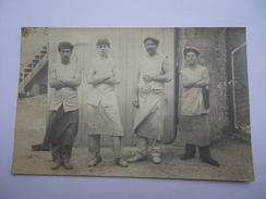 CARTE PHOTO BOUCHERS 1912 - BOUCHERIE - Brioux Sur Boutonne