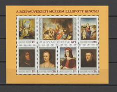 Hungary 1984 Paintings Raphael, Tiepolo, Tintoretto Etc. S/s MNH - Arte