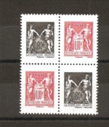 France 2016 Neuf  **  N° 5096 & 5097   140° Anniversaire Type Sage  ( Double Paire )  Provenant Du Carnet N° 1523 - Unused Stamps