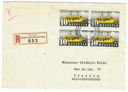 Suisse // Schweiz // Switzerland //1907-1939 // Lettre Recommandés Pour Yverdon - Lettres & Documents