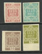 ESTONIA Estonie 1918/1919 Michel 1 - 4 * - Estland