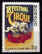 MONACO 1893.  2.80fr, 18th International Circus Festival. MNH (**) - Monaco