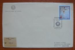 Letter - Cover - Sobre De Paraguay - Olimpiadas - Patín Sobre Hielo - Paraguay