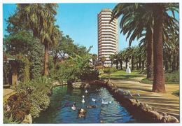 HUELVA (Costa De La Luz)(España) - Estanque Del Parque / Un Etang Du Parc - Immeuble Tour - Non écrite -Scan Recto-verso - Huelva