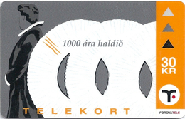 Faroe - Faroese Telecom (Magnetic) - Christianity 1000 Years #1- 30Kr. - 15.000ex, Used - Faroe Islands