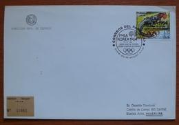 Letter - Cover - Sobre De Paraguay - Olimpiadas Korea 1988 - Paraguay