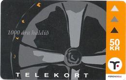 Faroe - Faroese Telecom (Magnetic) - Christianity 1000 Years #2- 50Kr. - 15.000ex, Used - Faroe Islands