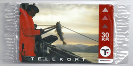 Faroe - Faroese Telecom (Magnetic) - Fishing - 30Kr. - 15.000ex, NSB - Faroe Islands