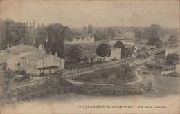 Cpa 16 Chateauneuf Sur Charente Ligne Ferroviaire à Voies Unique Saintes Angoulême Pont Sur La Charente - Chateauneuf Sur Charente