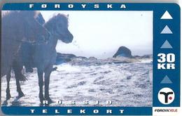 Faroe - Faroese Telecom (Magnetic) - Horse - 30Kr. - 25.000ex, Used - Faroe Islands