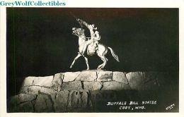 WY, Cody, Wyoming, Buffalo Bill Statue, Sturm RPPC - Cody