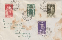 ITALIEN Brief 1938 - 4 Sondermaken Frankatur Gel.v.Merano N.Prag, Brief Fleckig - Airmail