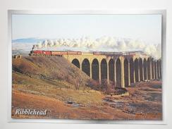Postcard Princess Margaret Rose Steam Train At Ribblehead Viaduct Settle To Carlisle Line [ No 2 ]  My Ref B21336 - Trains