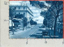 CARTOLINA VG ITALIA - RICCIONE (RN) - Viale Ceccarini - Virata In Blu - 10 X 15 - ANN. 1956 - Rimini
