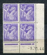2904  FRANCE  N° 651**  Type Iris  1f20 Violet Du 9/10/44     TTB - Coins Datés