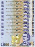ROMANIA 1000 LEI 1998 P-106 UNC 10 PCS [RO106] - Roemenië