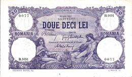 * ROMANIA 20 LEI 1917 P-20a UNC [RO020] - Romania