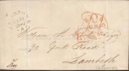 VORPHILA  GROSSBRITANNIEN, Faltbrief Von Maidstone Nach Lambeth Stempel: MAIDSTONE 30.MA 1842, K1: Paid 30.MR + PD 30.MR - Grossbritannien
