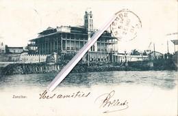 ZANZIBAR - CARTE CIRCULEE EN 1907 - Tanzanie