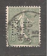 Perforé/perfin/lochung France No 130 B.F.  Banque De France - France