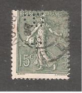 Perforé/perfin/lochung France No 130 BF  Banque Française Pour Le Commerce Et L'Industrie - France