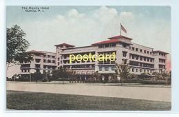 THE MANILA HOTEL, Philippines. OLD POSTCARD  C.1910 #659. - Philippines