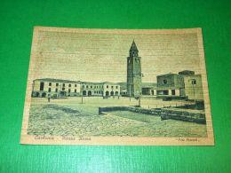 Cartolina Carbonia - Piazza Roma 1942 - Cagliari