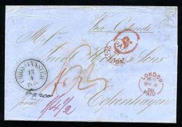 DANISH WEST INDIES/GB CROWNED CIRCLE/DENMARK 1858 - Denmark