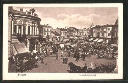 AK Ploesti, Markttag Auf Dem Gemüsemarkt - Rumänien