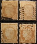LOT R1631/1596 - CERES N°59 - Oblitérations Légères - 4 Nuances Différentes - Cote : 32,00 € - 1871-1875 Ceres
