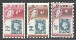 St.Helena 1956,1st St.Helena Postage Stamp,Sc 153-155,Fine MH* (SH-10c) - Great Britain (former Colonies & Protectorates)