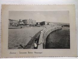 FBU,COLL.ST.POSTALE,CARTOLINA POSTALE,EUROPA,ITALIA,TOSCANA,LIVORNO,IN RILIEVO,VIAGGIATA,ANIMATA,PANORAMICA - Livorno