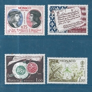 Monaco Timbres De 1962  N°576 A 579   Timbres Neuf * - Monaco