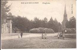HOOGBOOM: Zicht Op De Kerk En De School  Uitgever F. Hoelen (3362) - Kapellen