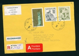 D128-  Postal Used Cover. Posted From Latvija To Pakistan - Latvia