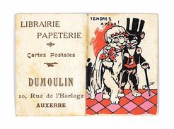 PETIT CALENDRIER 1931 PUB LIBRAIRIE PAPETERIE CARTES POSTALES DUMOULIN AUXERRE - Klein Formaat: 1921-40