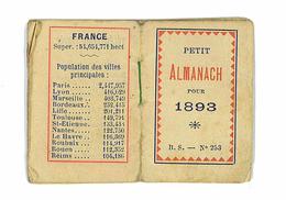PETIT ALMANACH POUR 1893 - Calendriers