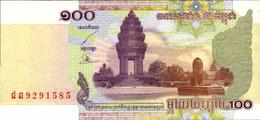 CAMBODGE 100 RIELS De 2001  Pick 53a  UNC/NEUF - Cambodge