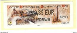 VIGNETTE LISA 2 - 2017 - SOCIETE NATIONALE DE SAUVETAGE EN MER - MENTION LP 0.85 EUR - NEUF - 2010-... Abgebildete Automatenmarke