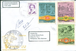 D134- Postal Used Cover.  Tree. Posted From Cuba To Pakistan - Cuba
