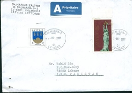 D135- Postal Used Cover. Posted From Latvija To Pakistan - Latvia
