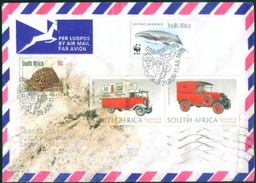 D145- Postal Used Cover. South Africa. WWF. Car. Wheel. - South Africa (1961-...)