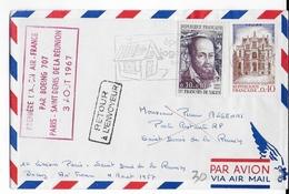 REUNION - 1967 - 1° VOL Par BOEING 707 - LIGNE PARIS => SAINT DENIS - Reunion Island (1852-1975)