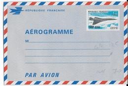 REUNION - 1969 - RARE AEROGRAMME CONCORDE - COTE YVERT = 130 EURO - Reunion Island (1852-1975)