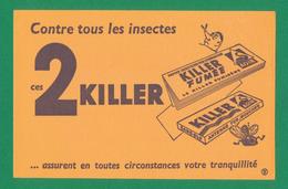 Buvard - 2 KILLER Contre Tous Les Insectes - Buvards, Protège-cahiers Illustrés