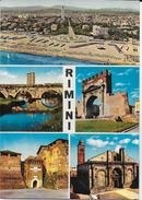 EMILIA ROMAGNA - RIMINI - VEDUTE VARIE - VIAGGIATA 1971 FRANCOBOLLO ASPORTATO - Rimini