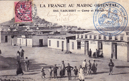 Carte Postale Maroc Camp D'OUJDA 1913 Cachet Militaire Jules Cohen Sapeur Télégraphiste - Marokko (1891-1956)