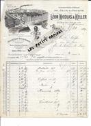 75 - Paris - PARIS-19e - Facture NICOLAS & KELLER - Manufacture De Jeux Et Jouets - 1921 - REF 264 - 1900 – 1949