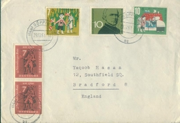 D164- Cover Posted From Germany To England. UK. Famous People - Germany